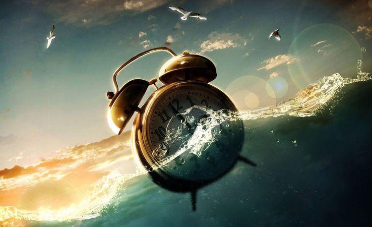 Часы в воде